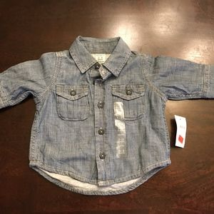 NEW! Baby Gap Button Down shirt